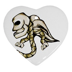 Angel Skull Heart Ornament (Two Sides)