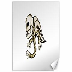 Angel Skull Canvas 24  x 36  (Unframed)