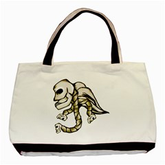 Angel Skull Twin-sided Black Tote Bag