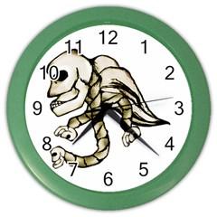 Angel Skull Wall Clock (Color)