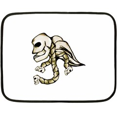 Angel Skull Mini Fleece Blanket (Two Sided)