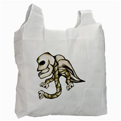 Angel Skull White Reusable Bag (Two Sides)
