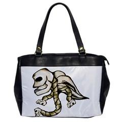 Angel Skull Oversize Office Handbag (one Side)