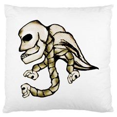 Angel Skull Large Cushion Case (two Sided)