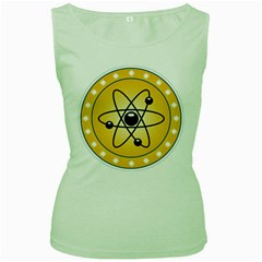 Atom Symbol Women s Tank Top (Green)