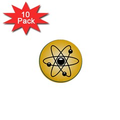 Atom Symbol 1  Mini Button (10 pack)
