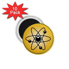 Atom Symbol 1.75  Button Magnet (10 pack)