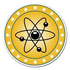 Atom Symbol Magnet 5  (Round)
