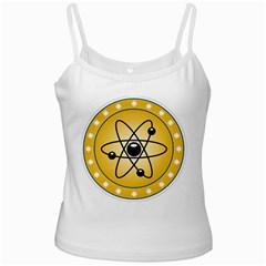 Atom Symbol White Spaghetti Top