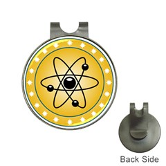 Atom Symbol Hat Clip With Golf Ball Marker