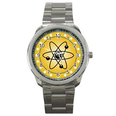 Atom Symbol Sport Metal Watch