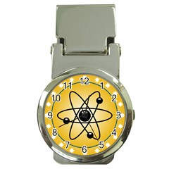 Atom Symbol Money Clip with Watch