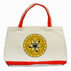 Atom Symbol Classic Tote Bag (red)