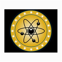 Atom Symbol Glasses Cloth (small, Two Sided)