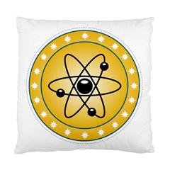 Atom Symbol Cushion Case (Single Sided)