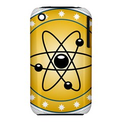 Atom Symbol Apple Iphone 3g/3gs Hardshell Case (pc+silicone)