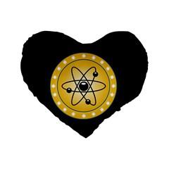 Atom Symbol 16  Premium Heart Shape Cushion