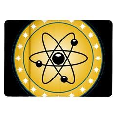 Atom Symbol Samsung Galaxy Tab 10.1  P7500 Flip Case