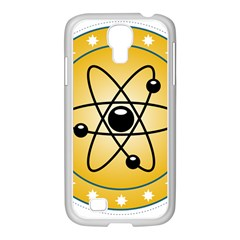 Atom Symbol Samsung GALAXY S4 I9500/ I9505 Case (White)