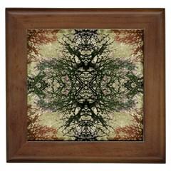 Winter Colors Collage Framed Ceramic Tile