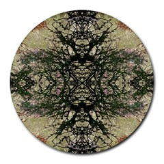 Winter Colors Collage 8  Mouse Pad (round)