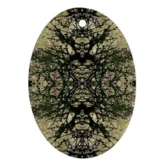 Winter Colors Collage Oval Ornament