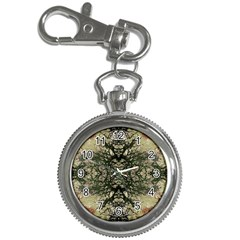 Winter Colors Collage Key Chain Watch