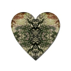 Winter Colors Collage Magnet (Heart)