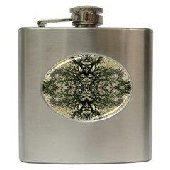 Winter Colors Collage Hip Flask