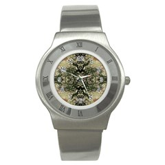Winter Colors Collage Stainless Steel Watch (Slim)