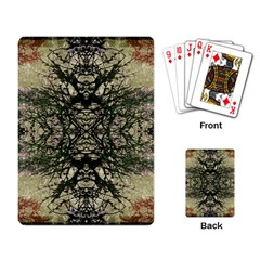 Winter Colors Collage Playing Cards Single Design