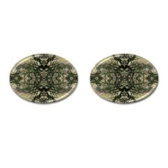 Winter Colors Collage Cufflinks (Oval)