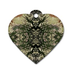 Winter Colors Collage Dog Tag Heart (One Sided)