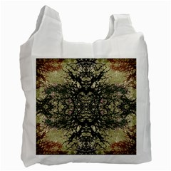 Winter Colors Collage White Reusable Bag (two Sides)