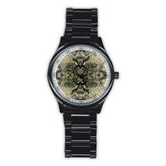 Winter Colors Collage Sport Metal Watch (Black)