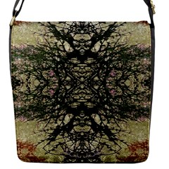 Winter Colors Collage Flap Closure Messenger Bag (small)
