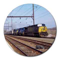 The Circus Train 8  Mouse Pad (round)
