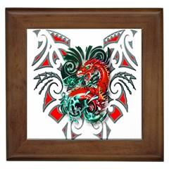 Tribal Dragon Framed Ceramic Tile