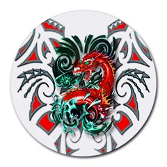 Tribal Dragon 8  Mouse Pad (round)