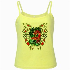Tribal Dragon Yellow Spaghetti Tank