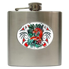 Tribal Dragon Hip Flask