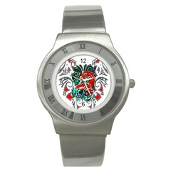 Tribal Dragon Stainless Steel Watch (Slim)