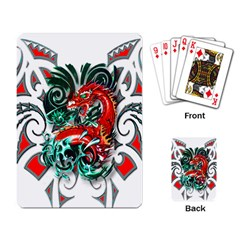 Tribal Dragon Playing Cards Single Design