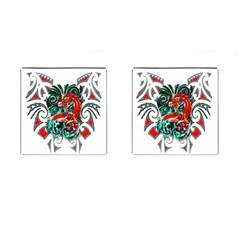Tribal Dragon Cufflinks (Square)