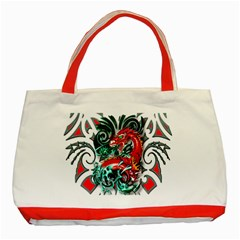 Tribal Dragon Classic Tote Bag (Red)