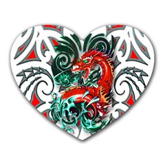 Tribal Dragon Mouse Pad (Heart)