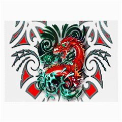Tribal Dragon Glasses Cloth (large, Two Sided)