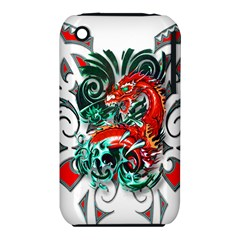Tribal Dragon Apple iPhone 3G/3GS Hardshell Case (PC+Silicone)
