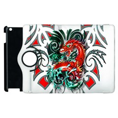 Tribal Dragon Apple iPad 3/4 Flip 360 Case