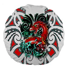 Tribal Dragon 18  Premium Round Cushion